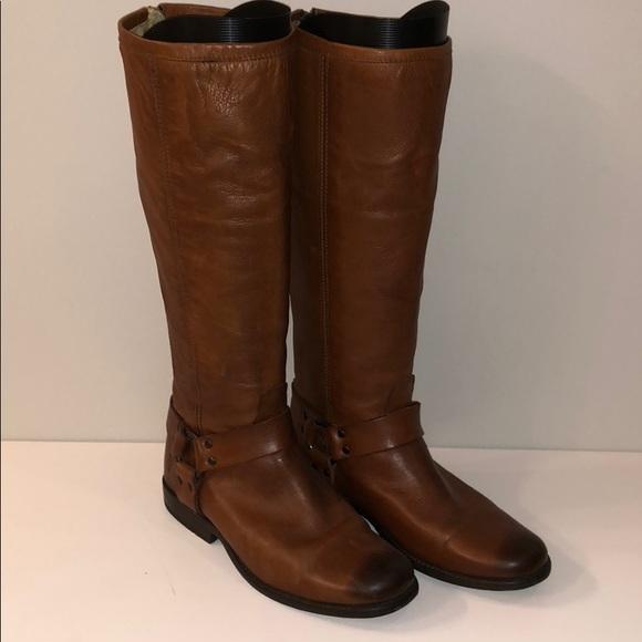 m_5b9ac02245c8b336593591f9 frye shoes phillip harness tall cognac size 8 poshmark